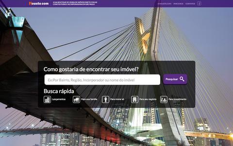 Screenshot of Home Page houste.com - Houste - A Sua Boutique de venda de imóveis direto com as construtoras e incorporadoras em São Paulo - captured Sept. 23, 2014