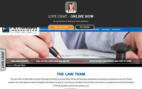 Screenshot of Team Page lawteam.com - Palm Beach Accident Attorneys | Florida Injury Lawyers - captured Dec. 15, 2018