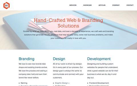 Screenshot of Services Page block81.com - Web Design & Branding Solutions | Block 81 | Portland, OR - captured Sept. 30, 2014