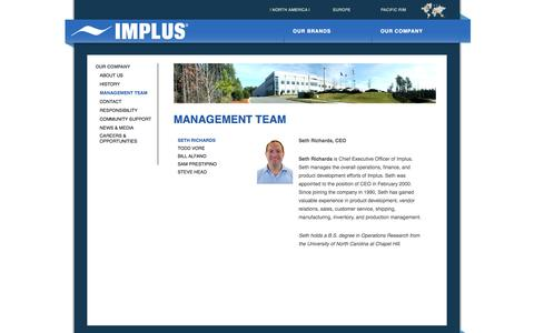 Screenshot of Team Page implus.com - Implus - captured Oct. 6, 2014