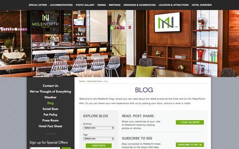Screenshot of Blog milenorthhotel.com - Chicago Gold Coast Hotels   MileNorth Hotel – Blog   4 Star Hotels in Chicago - captured Feb. 17, 2016