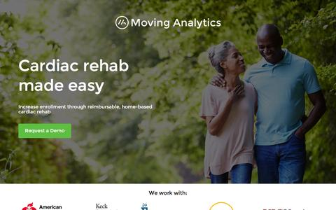 Screenshot of Home Page movinganalytics.com - Moving Analytics - Increase Participation and Revenues from Cardiac Rehabilitation - captured Feb. 28, 2016