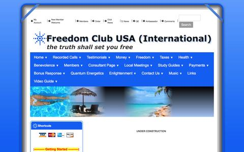 Screenshot of FAQ Page freedomclubusa.com - Freedom Club USA - FAQ - captured Sept. 2, 2016