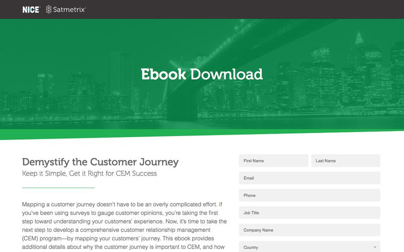 Satmetrix Ebook Download: Demystify the Customer Journey