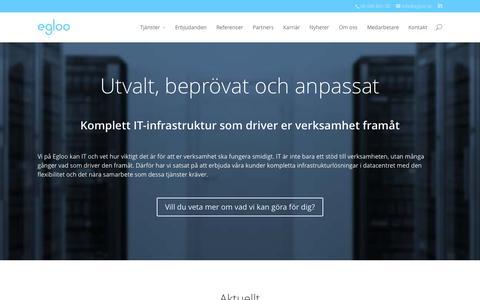 Screenshot of Home Page egloo.se - Komplett IT-infrastruktur som driver er verksamhet framåt - captured Sept. 20, 2015