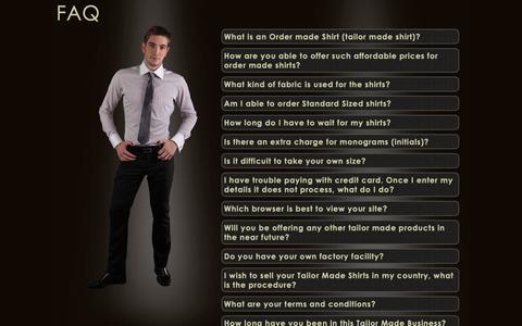 Screenshot of FAQ Page itailor.com - FAQ - Custom dress shirts, Men's dress shirt   iTailor.com - captured March 8, 2019