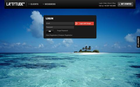 Screenshot of Login Page latitu.de - Latitude Login - captured Oct. 1, 2014