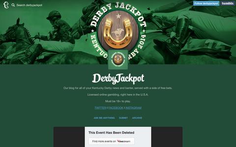 Screenshot of Blog derbyjackpot.com - DerbyJackpot - captured Nov. 28, 2016