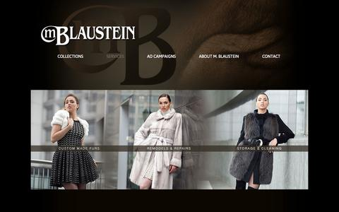Screenshot of Services Page mblaustein.com - Fur Services in NYC & NJ | MBlaustein.com - captured Sept. 30, 2014