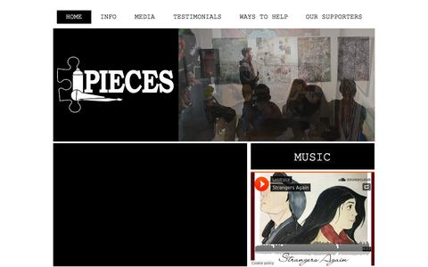 Screenshot of Home Page piecesarts.org - PIECES Visual & Performing Arts Organization - captured July 10, 2017