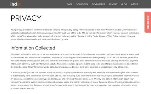 Privacy Policy | Indix