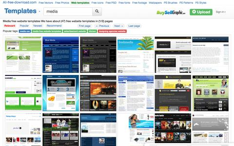 Screenshot of Press Page all-free-download.com - Media free website templates for free download about (47) free website templates. - captured Sept. 21, 2018