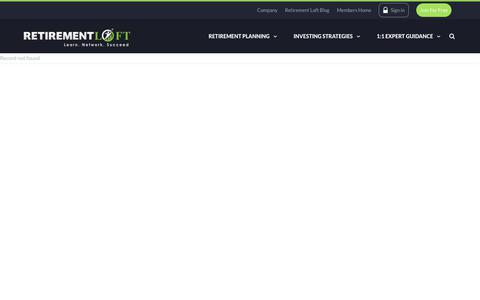 Screenshot of Services Page retirementloft.com - Services - Retirement Loft - captured June 14, 2017