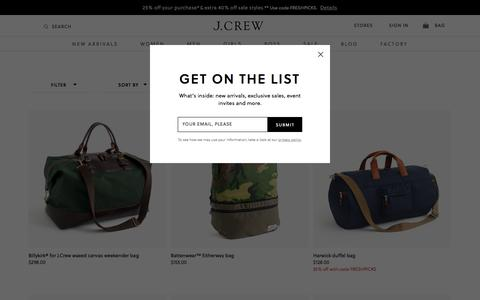 Men's Bags, Duffels, Briefcases & More : Men's Bags | J.Crew
