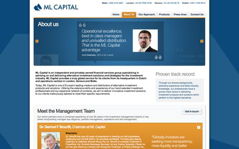 Screenshot of About Page mlcapital.com - About Us - ML Capital: the leading global investment firm - captured Sept. 30, 2014