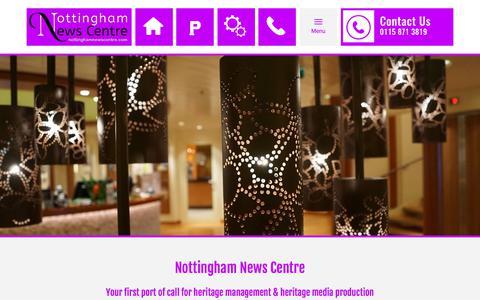 Screenshot of Home Page nottinghamnewscentre.com - Nottingham News Centre: heritage management services - Home - captured Nov. 5, 2017