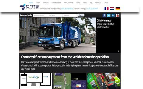 Screenshot of Site Map Page supatrak.com - CMS SupaTrak Ltd   Vehicle Telematics & Connected Fleet Solutions - captured June 16, 2015