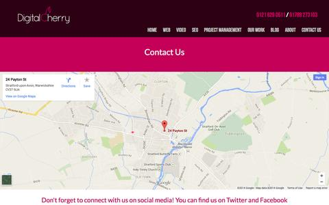Screenshot of Contact Page digitalcherry.co.uk - Contact Us | Digital Cherry - captured Nov. 3, 2014