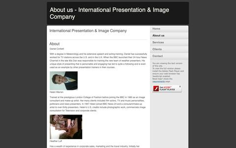 Screenshot of About Page internationalpresentationandimage.com - About us - International Presentation & Image Company - captured Oct. 12, 2018