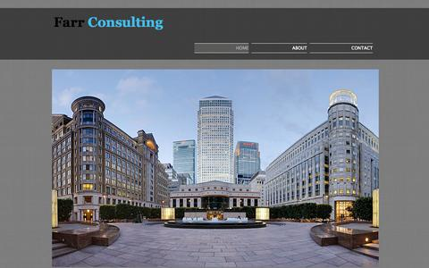Screenshot of Home Page farrconsulting.co.uk - Farr Consulting - captured Sept. 30, 2014