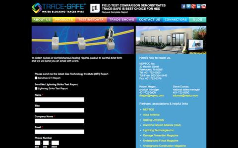 Screenshot of Contact Page trace-safe.com - TRACE SAFE / Contact Us - captured Feb. 22, 2016