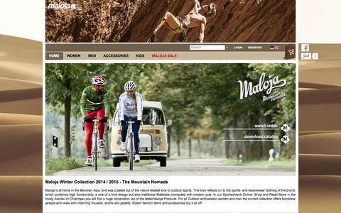Screenshot of Home Page sportschrank.de - Maloja online shop   Sportschrank.de   Maloja Clothing - captured Sept. 24, 2014