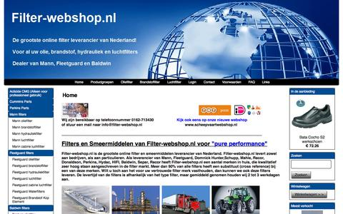 Screenshot of Home Page filter-webshop.nl - Home - captured Sept. 11, 2015