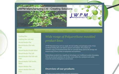 Screenshot of Products Page jwpmmanufacturing.co.uk - Products - JWPM - captured Oct. 3, 2014