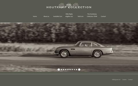 Screenshot of Home Page houtkamp.nl - Houtkamp Classic cars - captured Nov. 9, 2017