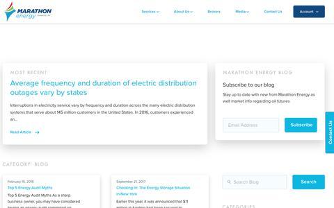 Screenshot of Blog mecny.com - Blog Archives - Marathon Energy - captured April 9, 2018