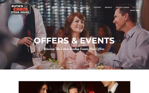 Screenshot of Press Page ruthschris.ae - Offers & Events — Ruth's Chris Dubai - captured Oct. 18, 2018