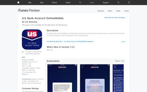 U.S. Bank Access® OnlineMobile on the App Store