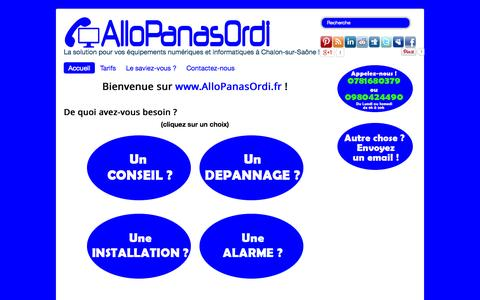 Screenshot of Home Page allopanasordi.fr - AlloPanasOrdi - Accueil - captured Sept. 30, 2014