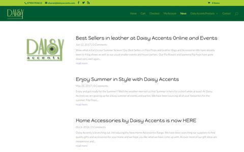 Screenshot of Press Page daisyaccents.com - news - Daisy Accents Online Shopping - captured Nov. 26, 2017