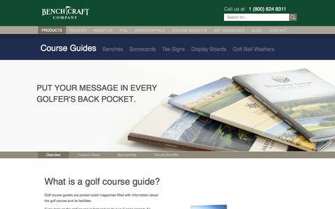 Screenshot of Products Page benchcraftcompany.com - Golf Course Guide Books - captured June 1, 2017