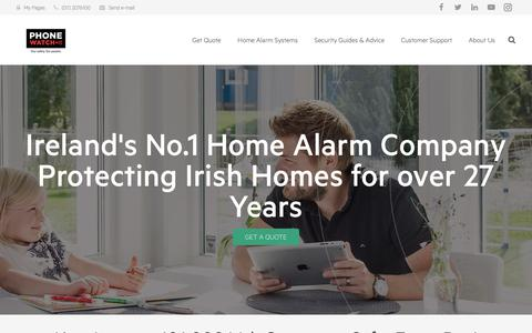 Screenshot of About Page phonewatch.ie - Burglar Alarms in  Dublin & Ireland - About PhoneWatch - captured July 18, 2018