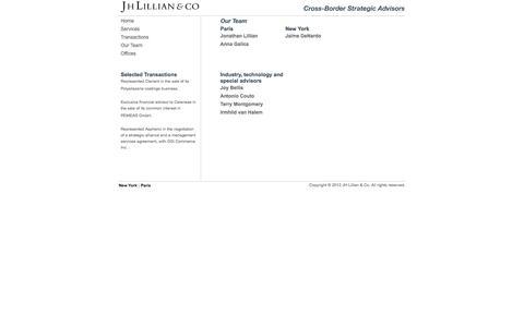 Screenshot of Team Page jhlillian.com - JH Lillian & Co. // Our Team - captured Feb. 3, 2016