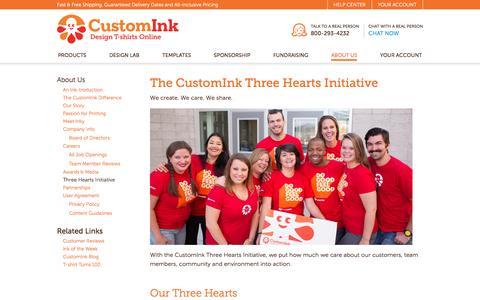 CustomInk - Three Hearts Initiative