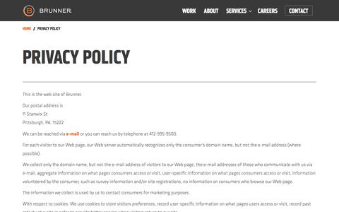 Privacy Policy   Brunner