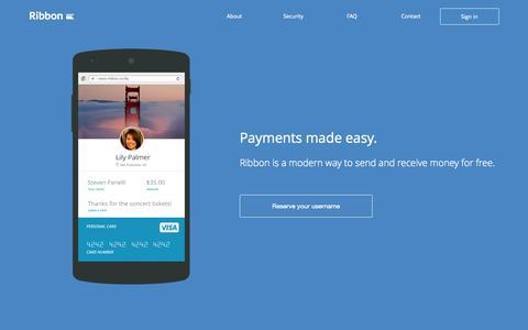 Screenshot of Home Page ribbon.co - Ribbon - captured Sept. 25, 2015