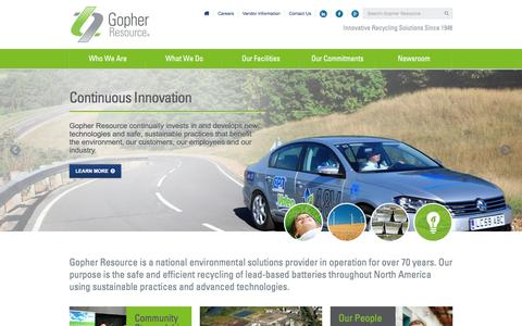 Screenshot of Home Page Menu Page gopherresource.com - Gopher Home - captured May 21, 2017