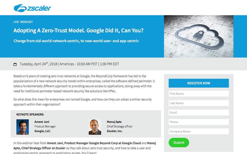 Adopting A Zero-Trust Model  Zscaler