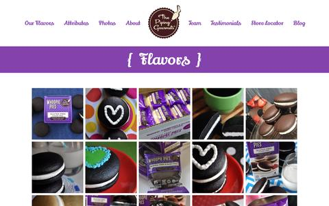 Screenshot of Products Page thepipinggourmets.com - The Piping Gourmets   Gluten Free Whoopie Pies - captured Feb. 22, 2016