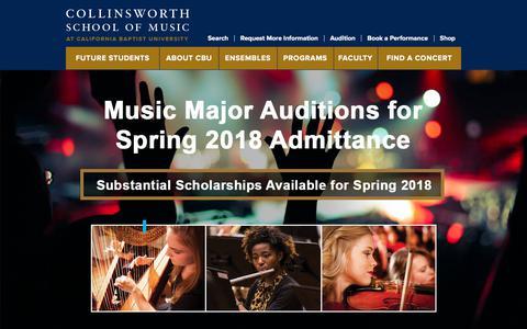 Collinsworth School of Music | California Baptist University