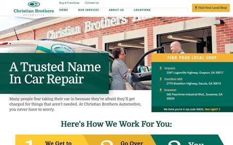 Screenshot of Home Page cbac.com - Auto Repair Service | Christian Brothers Automotive - captured April 19, 2017