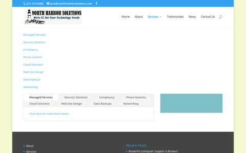 Screenshot of Services Page northharborsolutions.com - Services | North Harbor Solutions, LLC - captured June 16, 2017