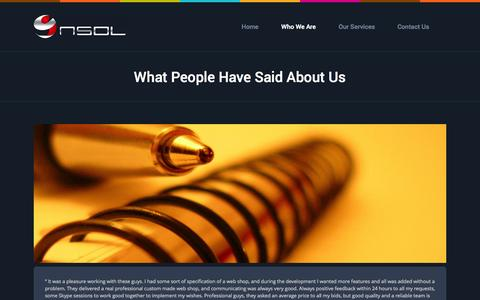 Screenshot of Testimonials Page nsol.sg - NSOL – Niku Solutions |   What People Have Said About Us - captured Nov. 4, 2014