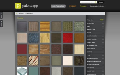 Screenshot of Products Page paletteapp.com - Flooring : Products : PaletteApp - Simply Powerful - captured July 19, 2014
