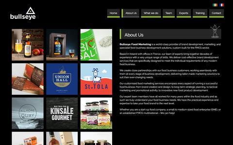Screenshot of About Page bullseye.ie - About Us | Bullseye Food Marketing - captured March 17, 2016