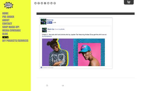 Screenshot of Press Page mashupcollective.com - NEWS - MASH-UP X SINGAPORE STREETWEAR LABEL - captured Sept. 30, 2014